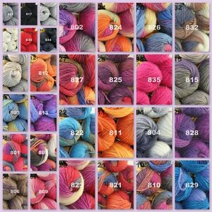 33b651ff02a0 Sale LOT of 6 Skeinsx50gr NEW Chunky Hand-woven Colors Knitting ...
