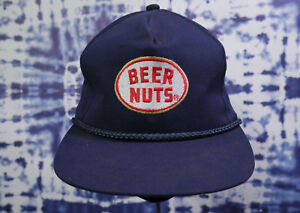 af8845649 Details about Vintage Beer Nuts Snapback Hat! Rare Baseball Cap Blue 80s  Classic Pop Culture