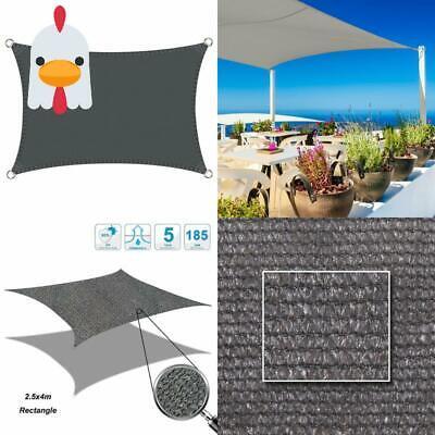 Gastfreundlich Cool Area Sonnensegel Rechteck 2.5 X 4 Meter, Sonnenschutz Hdpe Wetterbeständig Schnelle Farbe