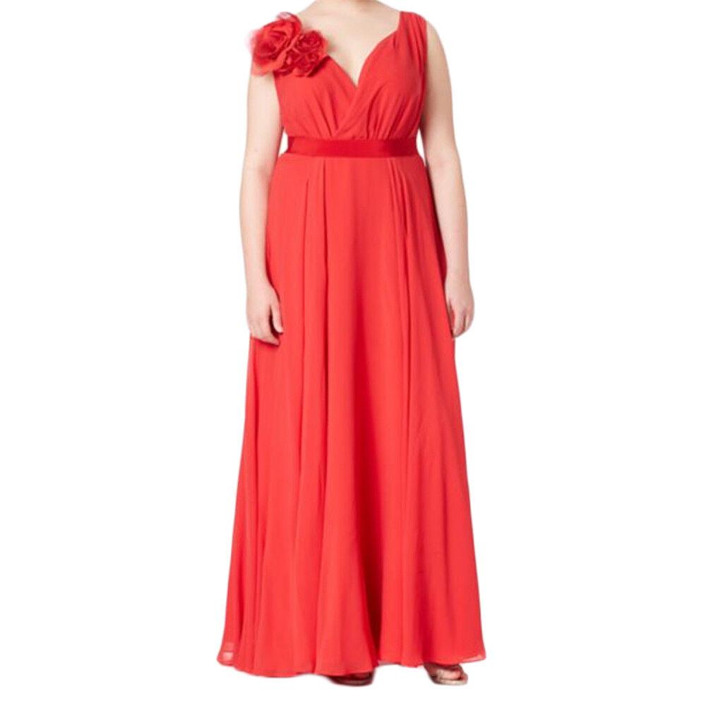 Marina Rinaldi Damen Rot Dolmen Empire Größe Kleid Nwt