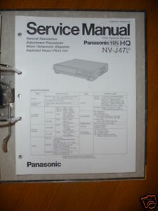 service manual panasonic nv j47 video recorder original ebay rh ebay com panasonic video dvd recorder manual panasonic 3ccd video camera manual