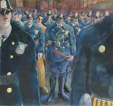 TOM LUBEVITCH- Hand Signed Illustration-City Police Officers