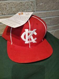 NWT-1998-Vintage-Kansas-City-KC-Monarchs-Negro-League-Snapback-Baseball-Hat-SGA