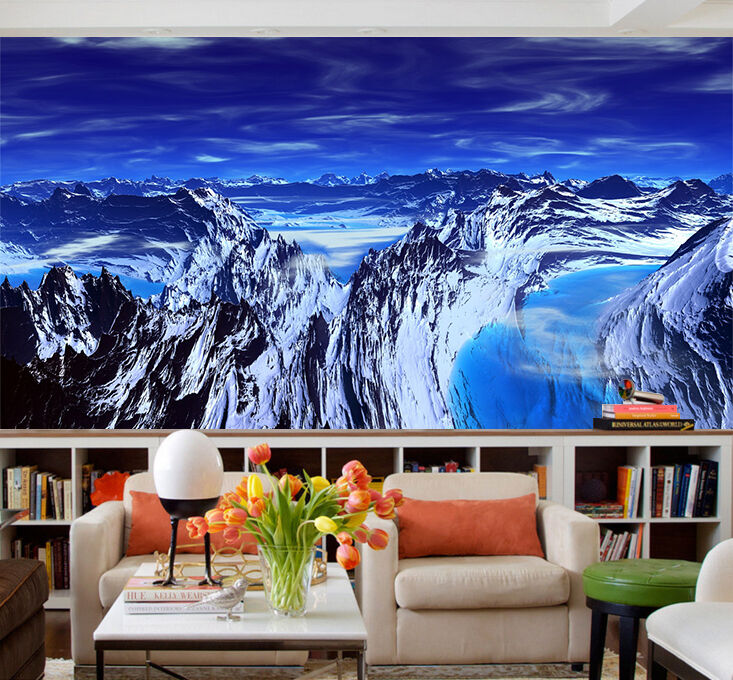 3D Vast Snow Mountains 1473 Paper Wall Print Wall Decal Wall Deco Indoor Murals