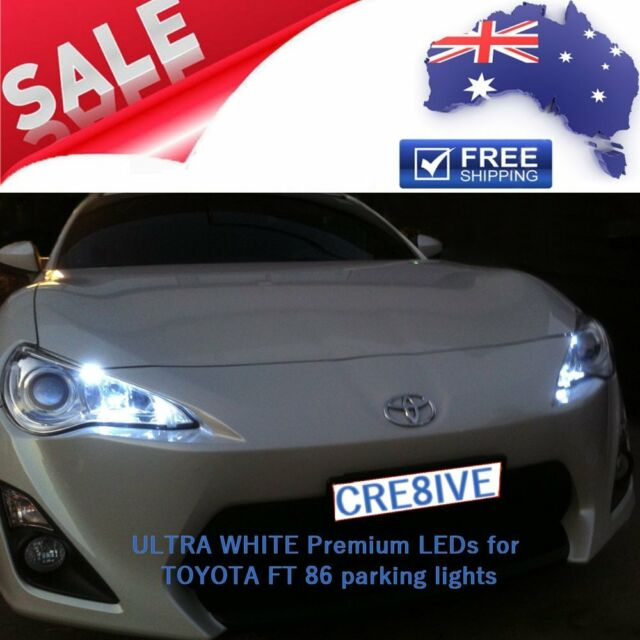 ULTRA White Premium LED Parking Parker Lights Upgrade for Toyota 86 FT86 GT86
