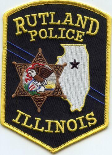 RUTLAND ILLINOIS IL POLICE PATCH