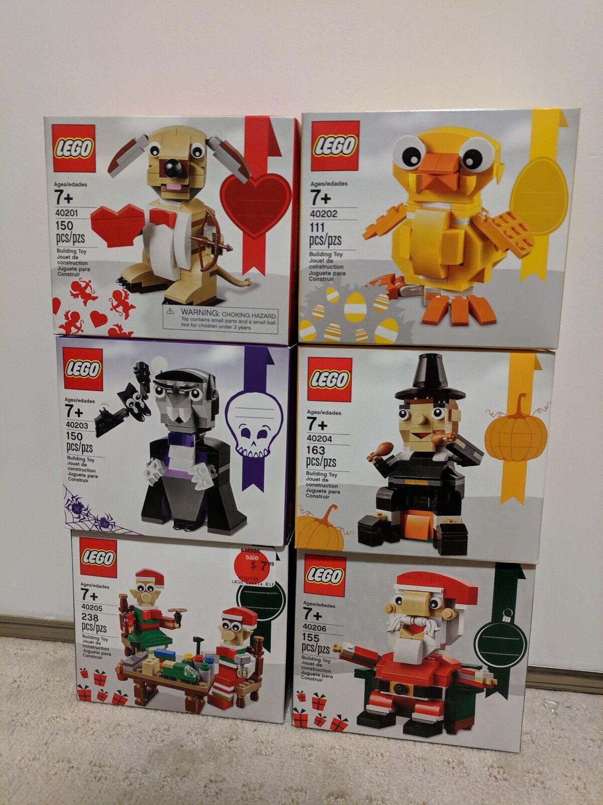 Lego Lego Lego 40201 40202 40203 40204 40205 40206 Valentine Easter Halloween Christmas 52b205