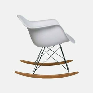 Pleasant Details About Eames Replica Rocking Chair Rar White Gmtry Best Dining Table And Chair Ideas Images Gmtryco