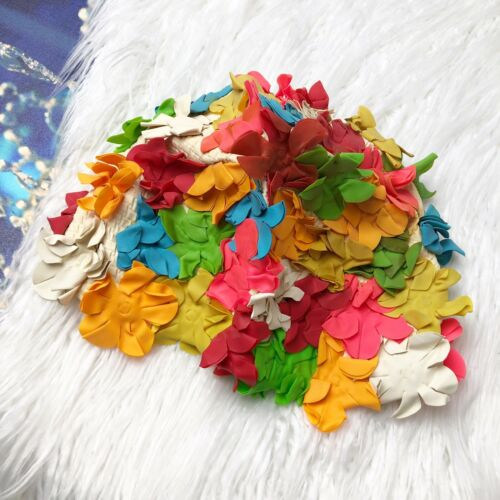 Jantzen Rubber Vintage Neon Flower Swim Cap Hat Bo