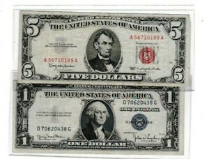 1953 series $5 Red Seal Note F-VF