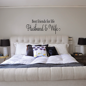 husband wife love quote modern home decor bedroom wall decal