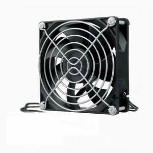 110V-120V-220V-240V-Ball-92mm-x-92mm-x-25mm-Cooling-Fan-With-Grill-Screws