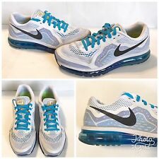 NIKE AIR MAX FLYKNIT RUNNING SHOE MENS SIZE 12 WHITE/ BLUE
