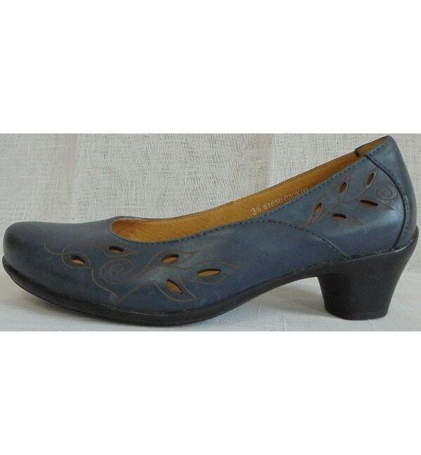 Zapatos zapatos señora zapato bajo pumps marine cuero Theresia m. (36) W H
