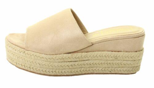New Womens Ladies Flat Wedge Open Toe Bar Sandals Slip On Platform Summer Shoes