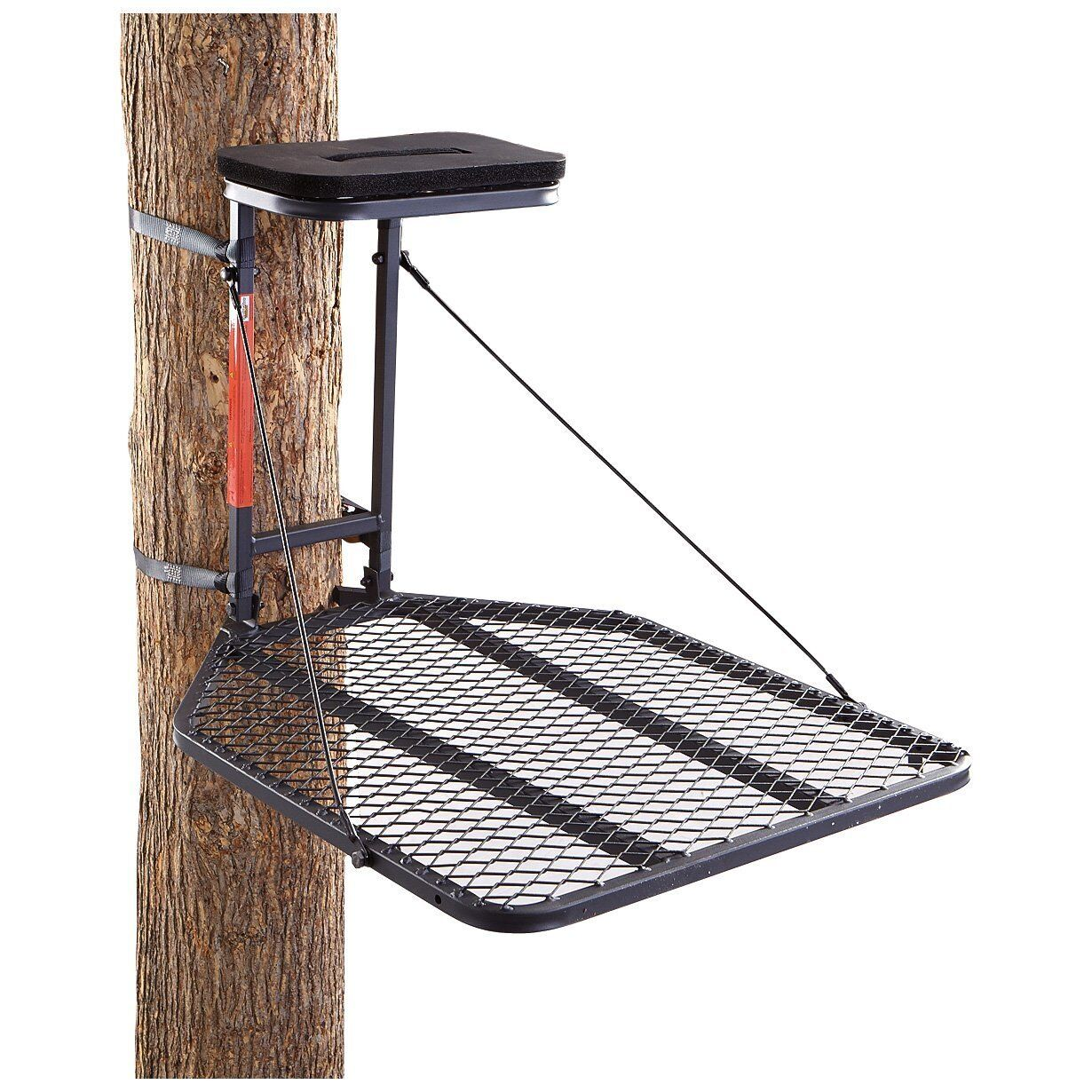 Direct Outdoors Hang-on Fixed Position Tree Stand 24 x 29.5 XL w/ Ratchet Straps