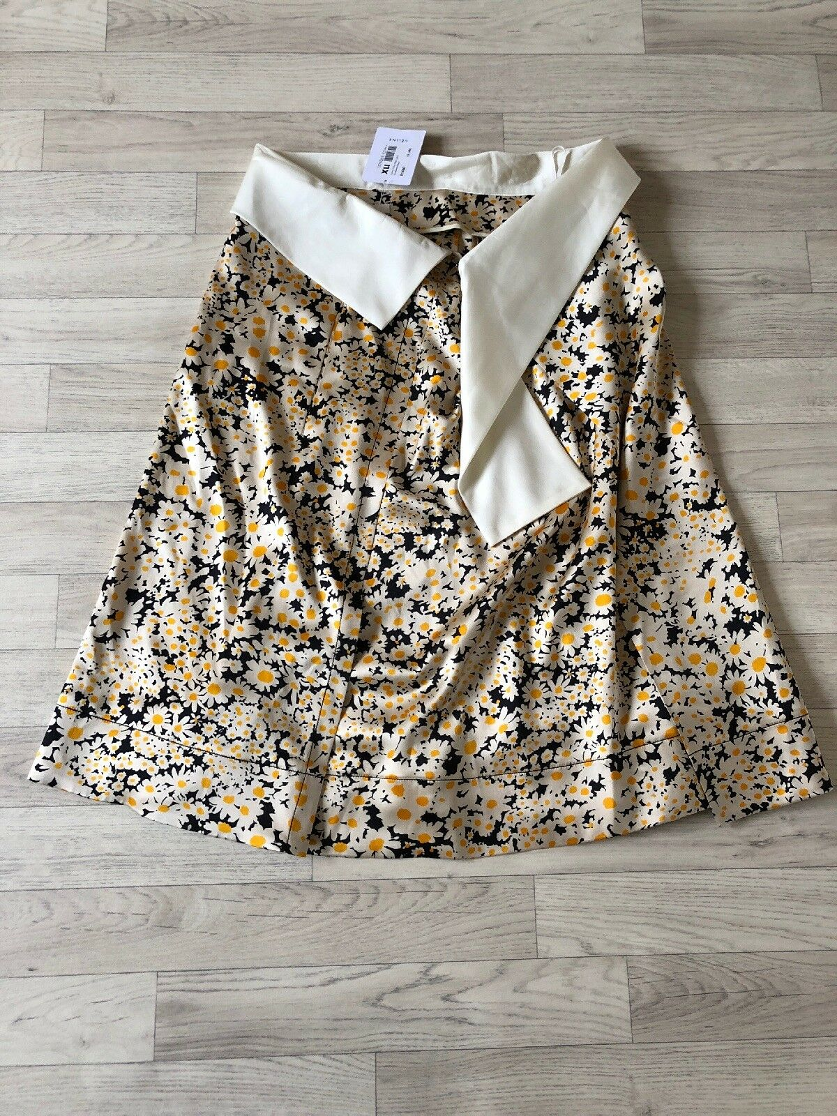 Celine Paris Skirt Celine Silk Floral Diasy A line Skirt UK12 EU40