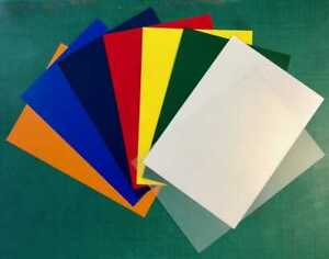 A3-Coloured-Polypropylene-Plastic-Sheet-0-5mm-Model-Making-Arts-amp-Crafts