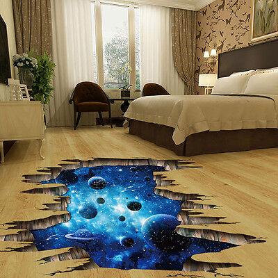 3d Floor Wall Sticker Ocean And Sky Mural Decals Vinyl Art Living