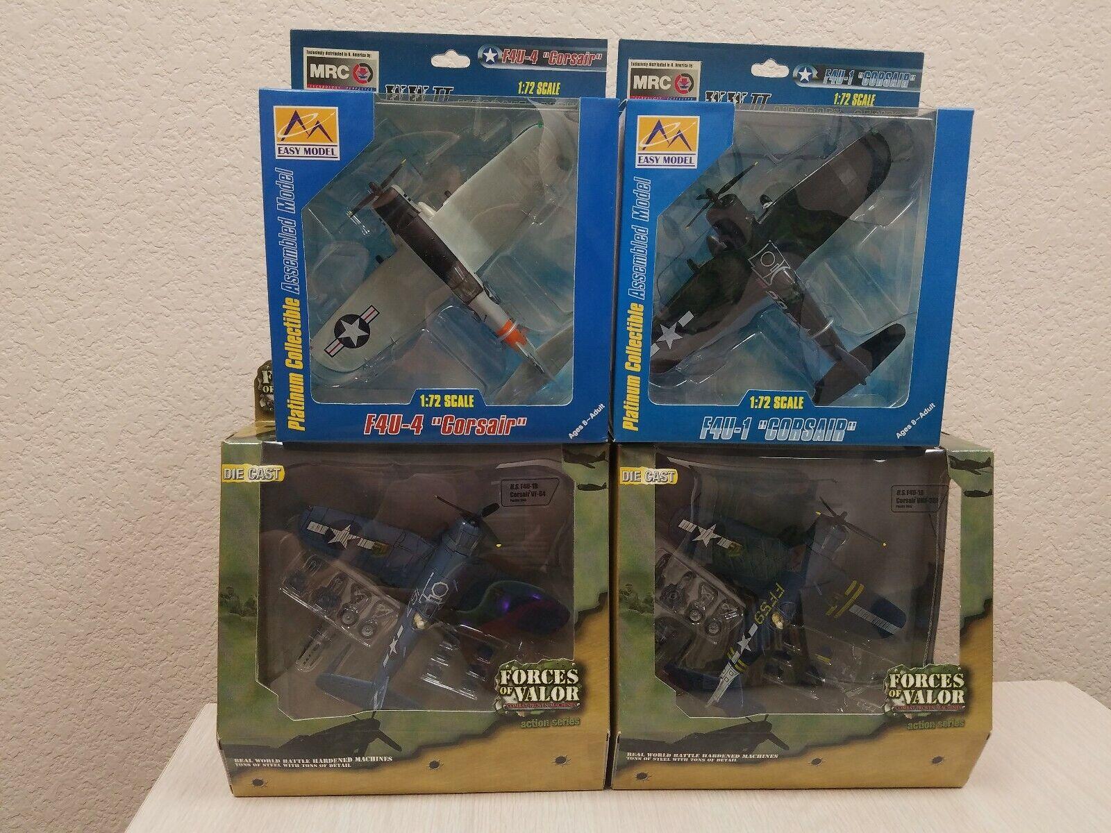nuova esclusiva di fascia alta Forces of Valor Easy modello 1 72 72 72 US Corsair Lot F4U-1D F4U-1 4 VMF-323 84 Pacific  prima i clienti