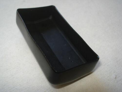 Lot de 4 embouts enveloppants pour tube section 25x50mm noir patin chaise