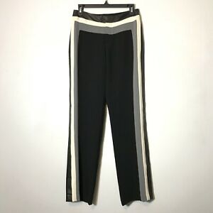 Rag /& Bone Womens Pacey Side-Stripe Wide Leg Casual Pants Trousers Black Size 2