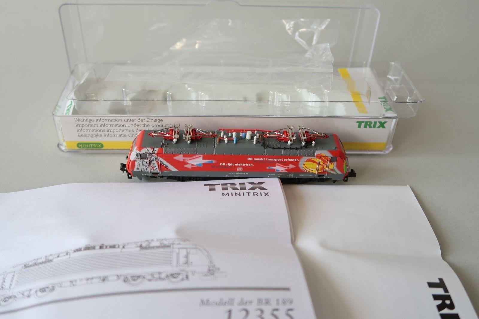 Minitrix N 12355 E - Lok BR 189 065-6 DB   Tulpenlok Niederlande  (DU190-90S5 2)    Zart