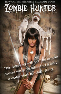 Zombie Hunter Pin-Up Ninja Girl Mummy Movie Poster from Candie Land Comic Book