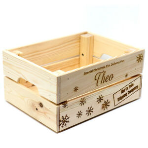 Christmas Crate Box.Details About Personalised Christmas Eve Box Wooden Xmas Shipping Crate Handmade Special Del