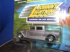 hot rod custom 4 door PICKUP # 8 silver w/racers edge  JOHNNY LIGHTNING 1/64