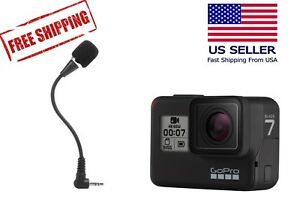 Flexible External Microphone For Gopro Hero 7 Black Pro Sports Equipment Ebay