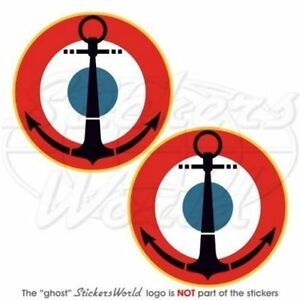 FRANCE-French-Naval-Aviation-Roundels-NAVY-Vinyl-Decals-Stickers-3-034-75mm-x2