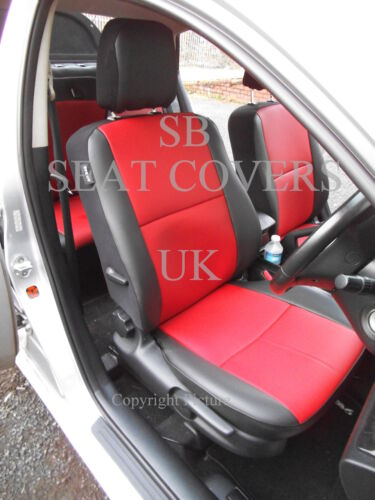 VAUXHALL ASTRA CAR SEAT COVERS RED+BLACK LEATHERETTE FULL SET CSC503