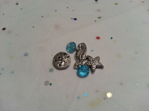 STARFISH BEACH CHARM LOT FOR LIVING MEMORY GLASS LOCKET FLOATING CHARMS #66