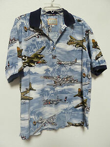 daf6419eba34b5 Kalaheo Hawaiian Shirt WWII Aircraft Print on HA Scenes Made in HA ...