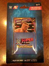 WWE SuperCard SuperToken Card Game Token Wrestlemania Gamestop 2k Brock Lesnar