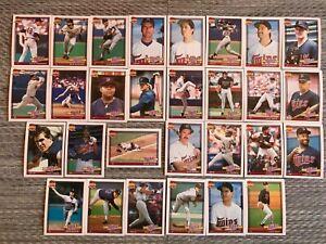 1991-MINNESOTA-TWINS-Topps-COMPLETE-Baseball-Team-SET-29-Cards-PUCKETT-HRBEK