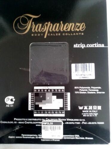 Taglia Trasparenze L con opaco bretelle 100 xl denari Collant collant Cortina nero HxHvfqwzB