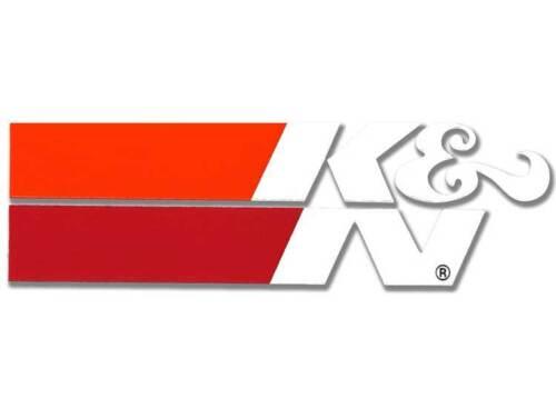 89-0018 K/&N AIR FILTER DECAL DIE CUT SMALL WHITE STICKER 105x32mm WHITE
