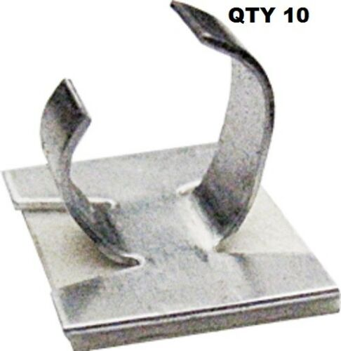 Cable Clips Aluminium Self Adhesive Sizes 6mm /& 9mm