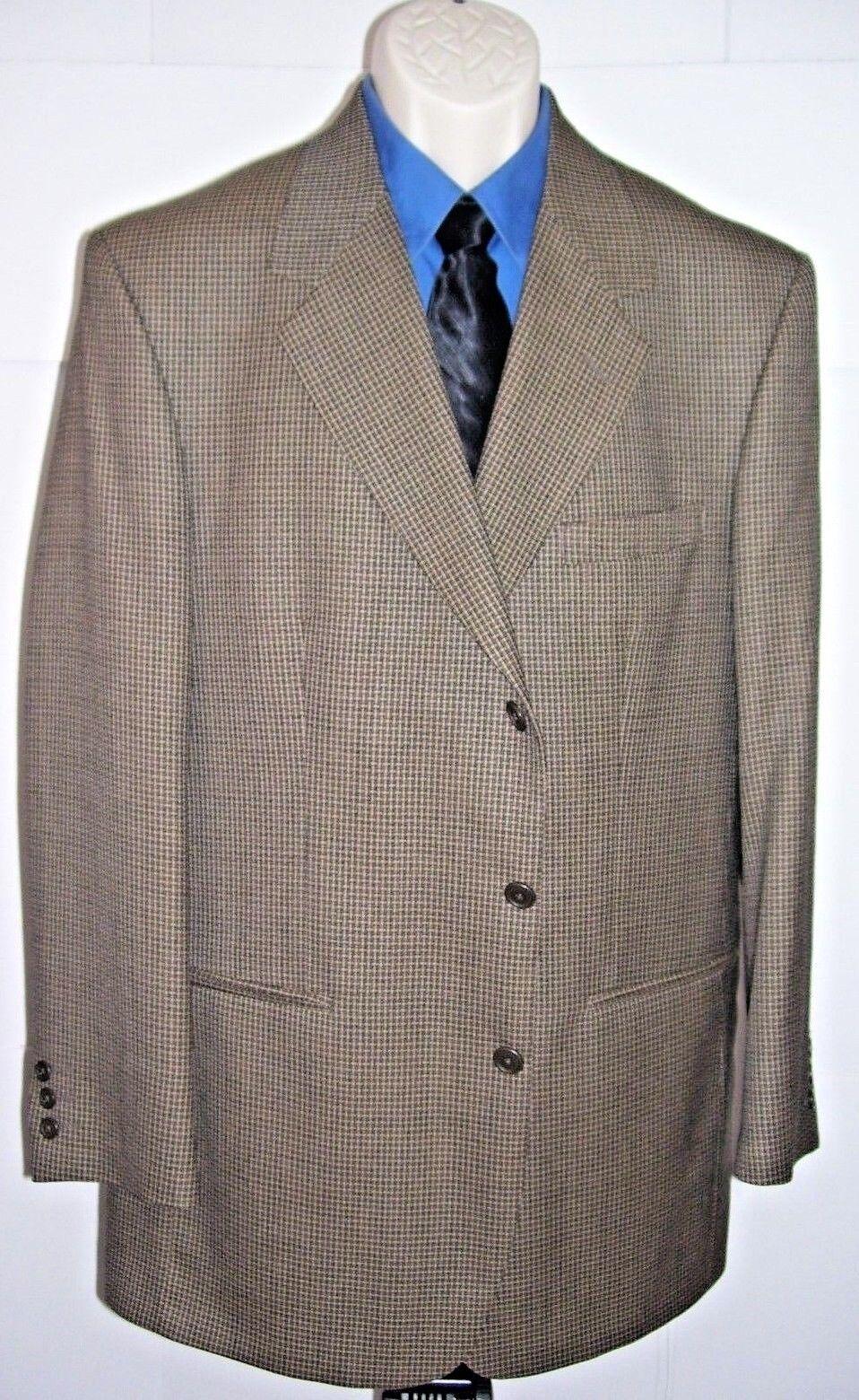 Henry Grethel Signature Collection  Herren Blazer Größe 42 Long 100% Worsted Wool