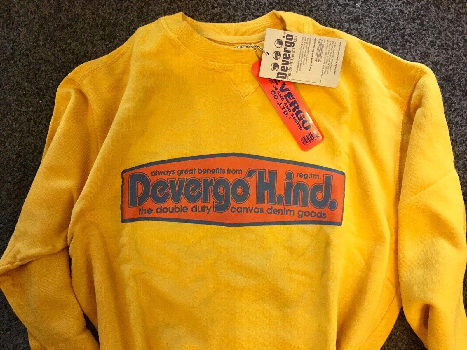 DEVERGO Sweat. Front Logo . XL. 'longline' BNWT. s Finest .Stone I
