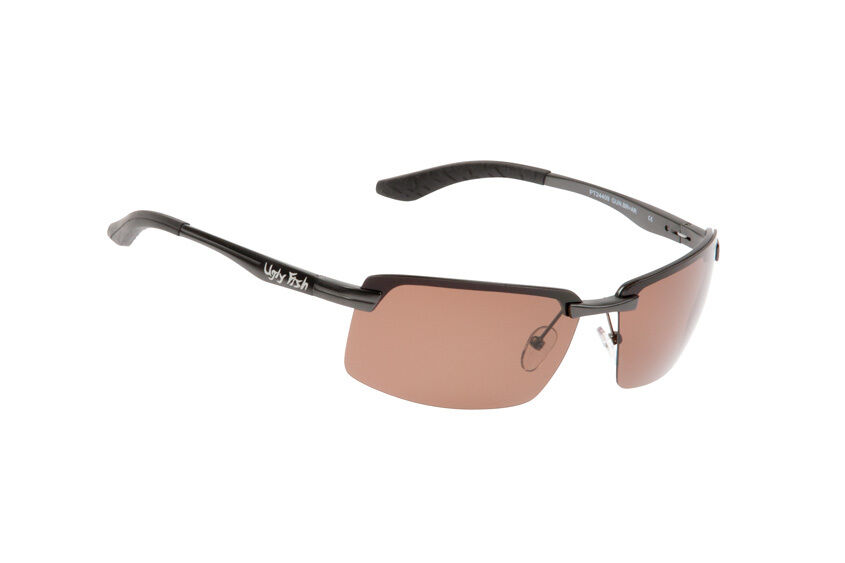 Ugly Fish Polarised Sunglasses PT24409 Gunmetal Frame With Brown Lens