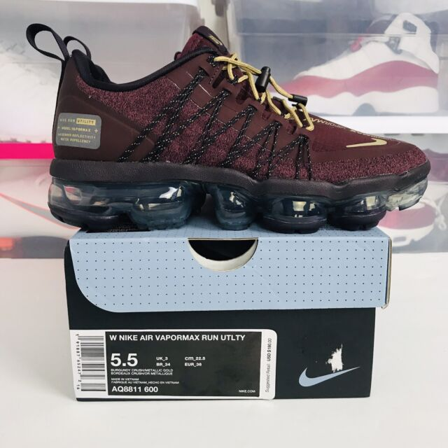 the latest ba737 72720 Nike Air Vapormax Run Utility Burgundy Crush Shoes Aq8811-600 Womens Sz 5.5