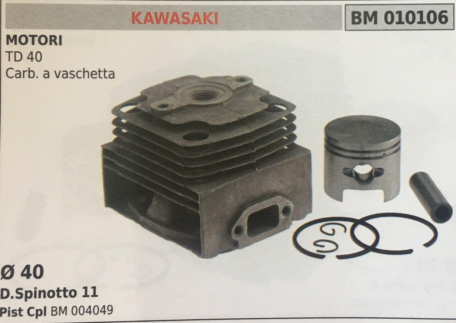 Zylinder Komplett mit Kolben und Segmente Brumar BM010106 Kawasaki