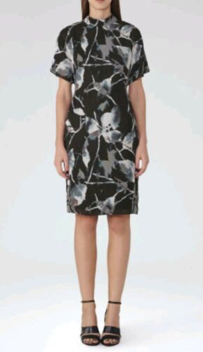 Stampa 10 Dress Brand al New Designer Reiss Becca ginocchio astratta Size 4Zggfq