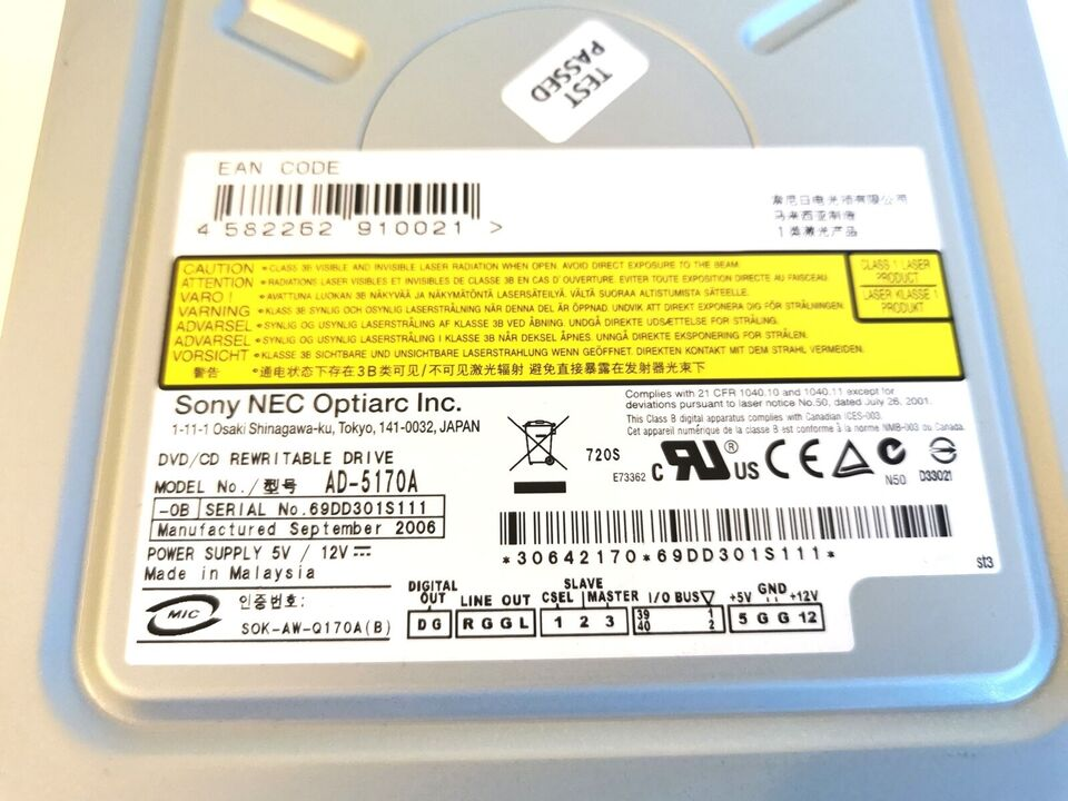 DVD Brænder, SONY NEC Optiarc, Perfekt