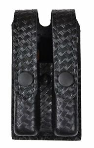 Safariland Slimline Double Magazine Pouch With Flap Basketweave Glock 17 22 34