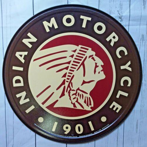 Indian Motorcycle Metal Tin Ad Sign Picture Garage Repair Bike Shop Gift Decor