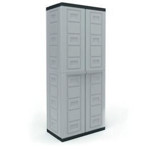 contico 4 shelf plastic garage storage organizer base utility rh ebay com suncast plastic garage storage cabinets stanley plastic garage storage cabinets